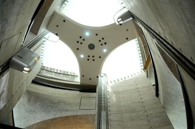 Mercedes-Benz Museum top of the central atrium
