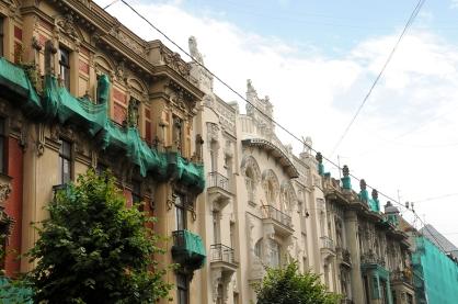 Art Nouveau, view of the steet