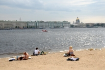 Beach with wiev on Hermitage