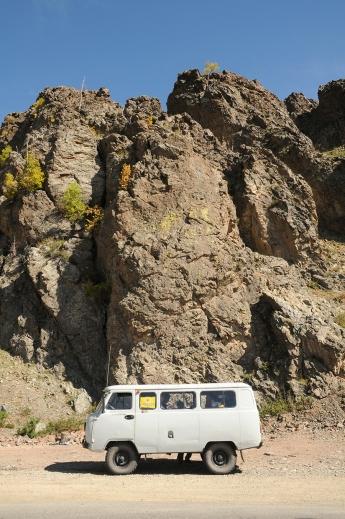 Van on the rocks!