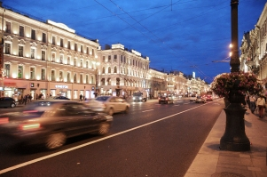 Nevsky Prospect by night