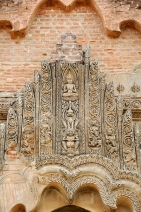 carved stucco door