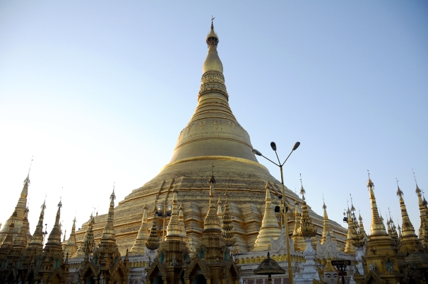 Shwedagon Paya at sunset