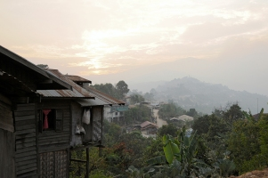 Sunset in Mindat, Chin State