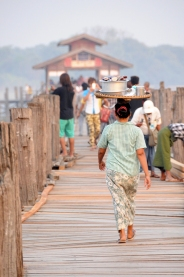 walking on the U Bein Bridge